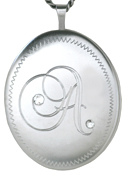 L9037 Initial 25mm oval locket