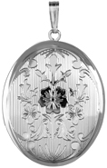 L9038A sterling fancy 25 oval locket