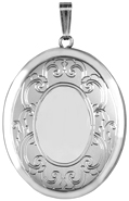 L9039 25 oval mirror locket