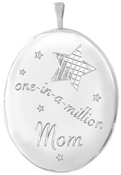 L9041 one in a million mom oval locket