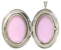 open 25mm oval locket