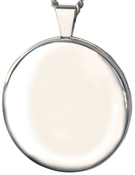 L2000 plain round 30mm locket
