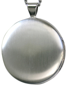 30mm round locket satin finish