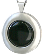 30mm round locket with onyx stone