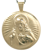 L2005 large round sacred heart locket