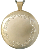 L2008 30 round locket with flower border