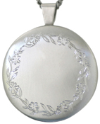 sterling 30 round locket with border