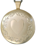 L2010 Floral border with heart round locket