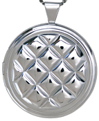 sterling 30mm round pillow locket