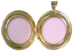 open 30mm round locket
