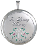L1080 loving memory round cremation locket
