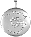 L1089CR You touched my heart pet cremation locket