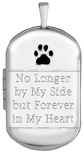 L1230 pet cremation dog tag locket