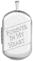 L1232 Forever in my heart cremation dog tag locket