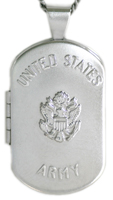 L1201 army dog tag locket
