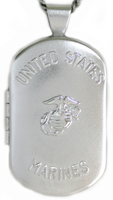 L1202 Marines dog tag locket