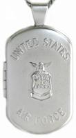 L1204 Air Force dog tag locket