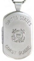 L1205 Coast Guard dog tag locket