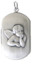 guardian angel dog tag locket