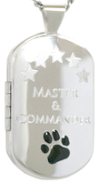 L1214 master and commander dog tag locket