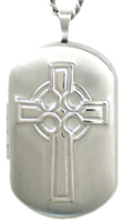 sterling embossed celtic cross locket