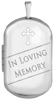 L1229 loving memory cremation dog tag locket
