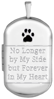 L1230CR pet dremation dog tag locket