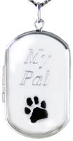 L1233E pet cremation dog tag locket