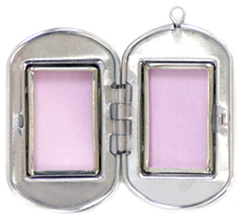open dog tag locket