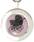 L1070 Baby Carriage Locket