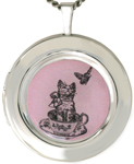 L1073 Cat and Butterfly Locket