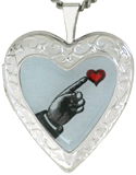 L5193 Inlay Heart Locket
