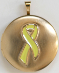 C1141 Gold Yellow RIbbon Locket