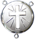 C1106 Cross Rosary Center locket