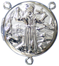 C1115 saint francis locket rosary center