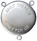 st therese locket rosary center