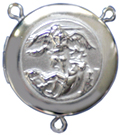 C1120 saint michael rosary locket center