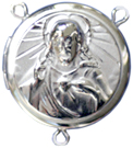 C1121 sacred heart rosary locket