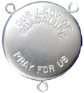 Our Lady of Guadalupe rosary locket center