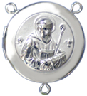 C1140 saint benedict rosary locket center