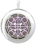L1084 Scroll overlay locket