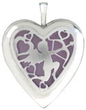 L5217 cupid heart locket