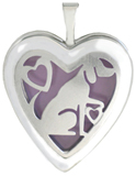 L5220 dog overlay heart locket