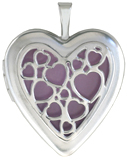 L5223 hearts overlay heart locket