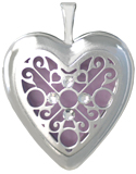 L5224 scroll overlay heart locket