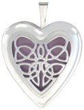 L5225 celtic knot overlay locket