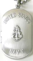 C1203 Navy Military Dog Tag Locket