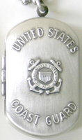 Coast Guard Dog Tag Locket
