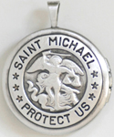 Saint Michael Protect Us Military Lockets