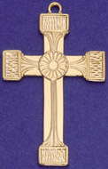 C354 gold large ornate cross